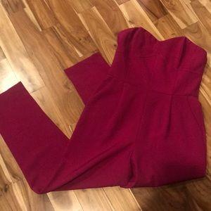 Adleyn Rae corset strapless jumpsuit